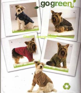 Dog Clothes Uncut Simplicity Sewing Pattern 2695 Clothing 3 Sizes Pet