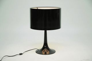 MODERN BLACK TULIP TABLE LAMP ALUMINUM BASE/SHADE CONTEMPORARY NEW