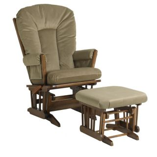 Dutailier Ultramotion Multi position Glider Chair Ottoman Set BROWN