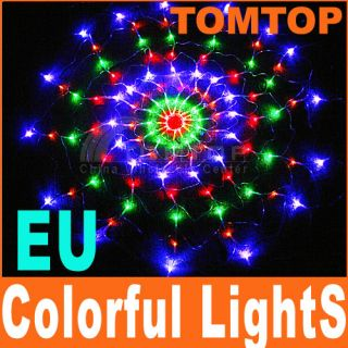 Colorful RGB LED Net Light Christmas Party Wedding EU