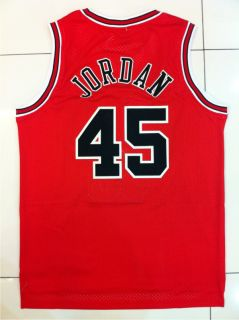 Michael Jordan Chicago Bulls 45 Swingman Red Away Jersey