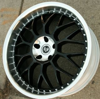 HYPER MESH II ST8 20 BLACK RIMS WHEELS X TYPE 02 08/ 20 x 8.5 5H +35