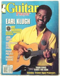 Guitar Player Magazine Earl Klugh Roy Buchanan John Taylor Steve Lynch