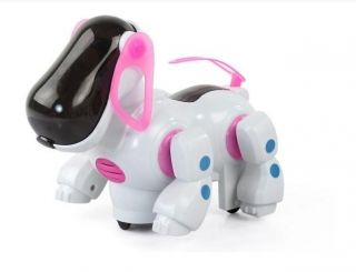 Pet Electronic Toy Music Lights Walking Dog Kids gift toys pink tail