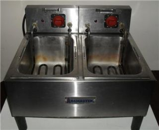 commercial abamaster electric countertop deep fryer
