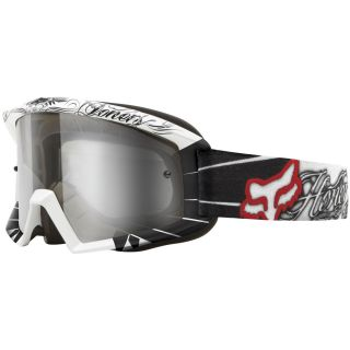 NEW Fox Racing Main White & Black VICTORY Goggles w/Clear Lense MX SX