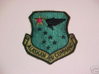 FORCE ALASKAN AIR COMMAND AAC SAC DEW ELMENDORF ALASKA SUBDUED PATCH