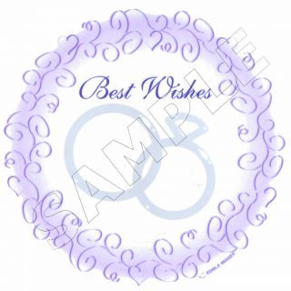 Best Wishes Wedding Rings Edible Image®