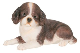 ENGLISH SPRINGER SPANIEL DOG PUPPY FIGURINE.STATUE.CUTE LITTLE PUP