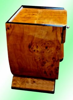 Largeexquisite Art Deco Style Elm Side Table Commode