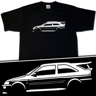 Ford Escort RS Cosworth Rally Car T Shirt Size s XXXL