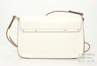 Kate Spade Bone White Leather Essex Scout Messenger Bag NEW With Tags