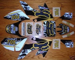NSTYLE TEAM FOX ENCORE CRF50 GRAPHICS KIT DECALS STICKERS HONDA CRF 50