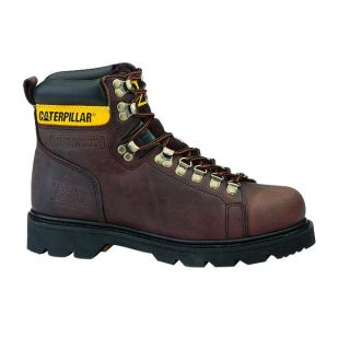 Cat Caterpillar Alaska Slip Resistant Leather Mens Work Boots Shoes Sz