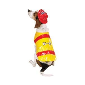 Halloween Dog Costume Pawfield Fire Fighter Chief XS