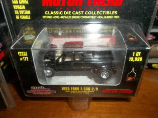 BLACK DUALLY 1999 FORD F 350 P U RACING CHAMPIONS HOTWHEELS MATCHBOX