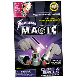 Fantasma Magic Cups Balls w Rising Wand Magic Kit Set