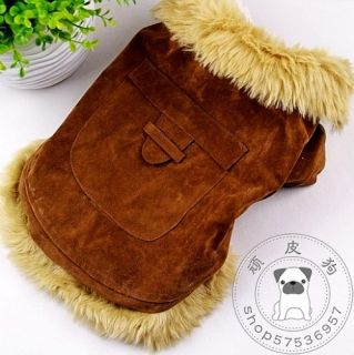Pet Dog Cat Clothing Clothes Coat Hoodies Brown Super Warm YFD09
