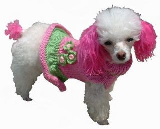 Girlie Girl Knit Pet Dog Sweater Clothes