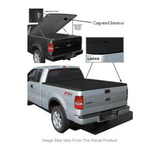 Tonneau Cover Truck Bed Fiberglass New Black Hinged GMC