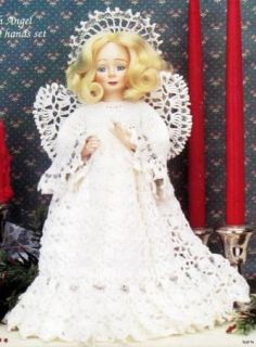 Angelica Tree Top Christmas Angel Doll Crochet Pattern VTNS