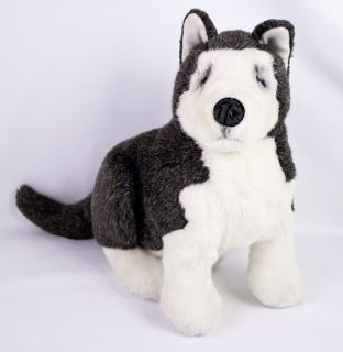 Lou Rankin Erskine Siberian Husky Puppy Dog Gray White Plush 11 Dakin