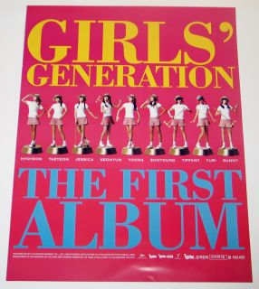 SNSD Girls Generation Korea First Album Official Poster with Tube