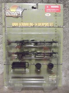 NEW ULTIMATE SOLDIER 1 6 WWII German MG 34 Weapons set Machine Gun
