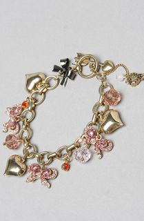Betsey Johnson The Ombre Rose Bow Charm Bracelet
