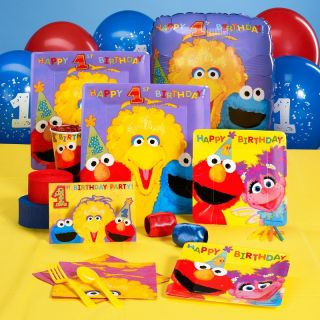 Sesame Street 1st First Birthday Party Pack for 16 Partyware Party