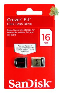 of 2 SanDisk Cruzer FIT 16GB (32GB) USB Flash Pen Drive Memory Stick