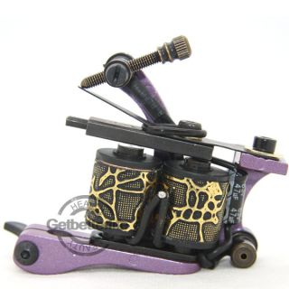 Aluminum 10 Wraps Coils Tattoo Machine Gun Supplies for Shader