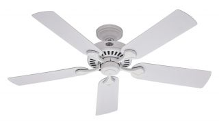 Hunter 5 Minute Fan Damp 52 Ceiling Fan Model 21782 in White with