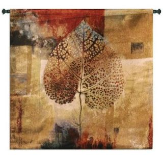 Fall Colors Leaflet Leaves Autumn Abstract Leaf Art Tapestry Wall