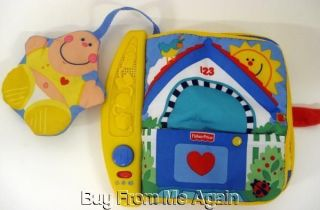 Fisher Price Soft Cloth Musical Baby Book Colors Counting Star
