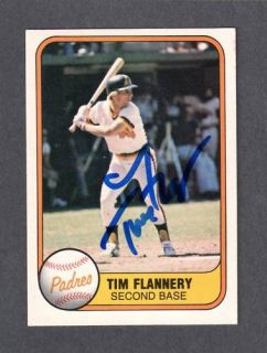 1981 Fleer 493 Tim Flannery SD Padres Signed Autograph Auto COA Error