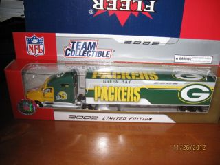 Green Bay Packers Diecast Collectibles NFL Fleer Football Truck