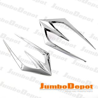 CHROME AIR FLEW INTAKE SIDE VENT HOOD BONNET DUCT STICK ON FENDER