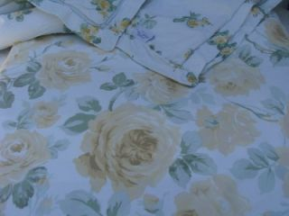Simply Shabby Chic Floris Floral Yellow Roses King Duvet w/ 2 King