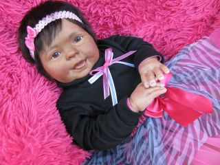 Adorable Reborn Ethnic Big Baby Girl (Cookie By Donna RuBert)