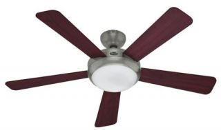 Hunter Palermo 52 Ceiling Fan Model 21627 in Brushed Nickel with