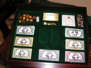 Franklin Mint Monopoly Collectors Game Table MillionaireSchairs