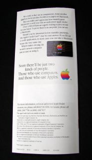 Apple Computer Original Macintosh Intro Brochure January 1984 Mac