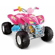 PRICE POWER WHEELS BARBIE KAWASAKI KFX ATV PINK NIB FREE SHIP 12 VOLT