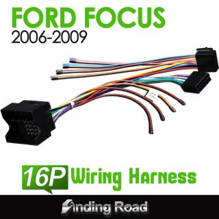 A0556 Ford Focus 2006 2009 Car Radio Stereo Wiring Harness ISO Adapter