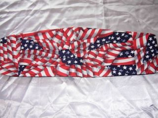 BOW TIE & CUMMERBUND SET   AMERICAN FLAG   STARS & STRIPES