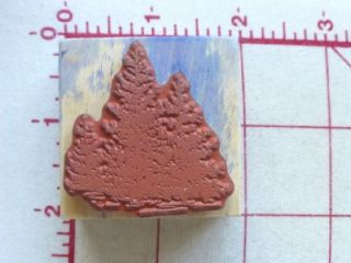EMBOSSING ARTS Rubber Stamp FIR TREES Forest GROVE Nature Scene