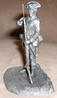 1977 Franklin Mint Fine Pewter Figure PRIVATE 2nd Maryland Regiment