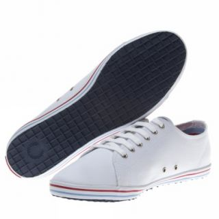 Fred Perry Kingston Twin Tipped UK Size White Trainers Shoes Mens New