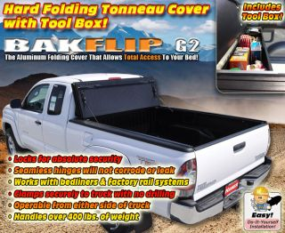 Bak Bakflip G2 Hard Folding Tonneau Cover Bakbox Combo Fits 100s of
